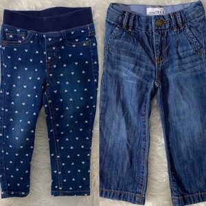 2T Girl Jean Bundle 2 Pairs of Jeans